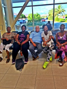 My fam.. at L.F. Wade Airport